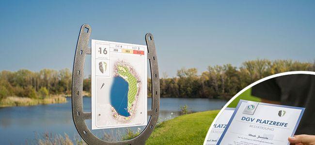 Gutscheine für Meisterschaftsplatz nach erfolgreicher Platzreifeprüfung an der Golfakademie Hufeisensee
