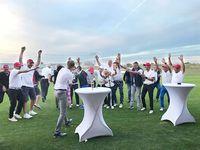 Ryder Cup 2018 Sieger: Halle Jubelpose