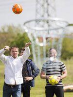 Einwurf beim Fussballgolf