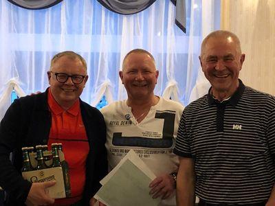Siegerehrung bei der Golfreise der Senioren