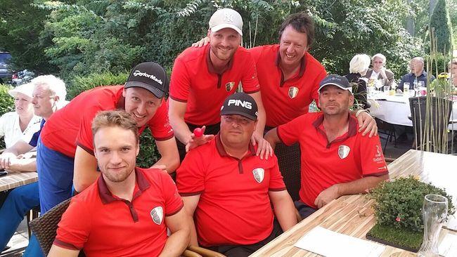 Mannschaftsbild - Saisonabschluss der Herrenmannschaft des Golfclub Halle