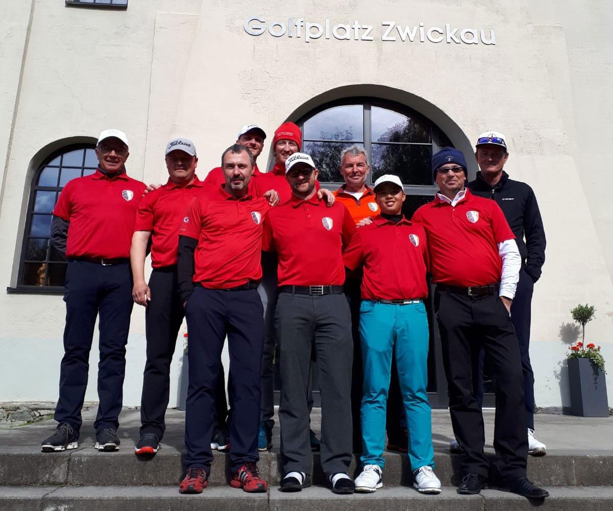 1. Ligaspiel Herremannschaft Golfclub Halle in Zwickau